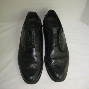 FLORSHEIM Black Vtg. Long Wingtip Oxfords, 10 D
